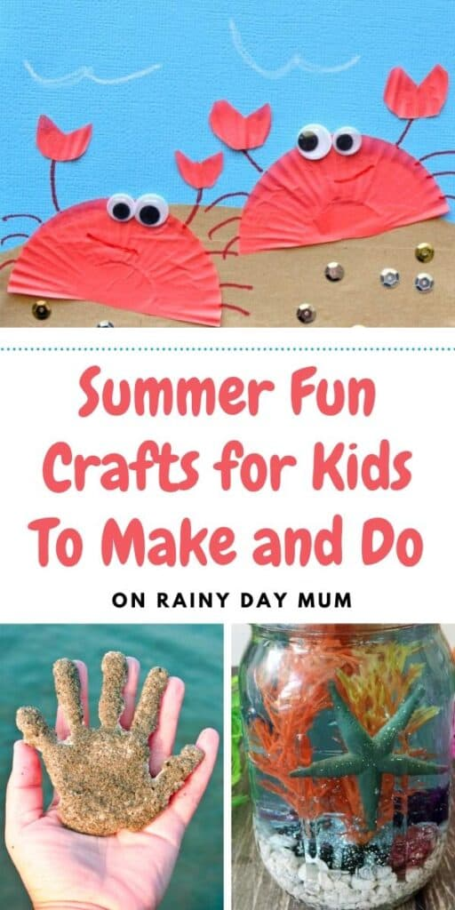 summer fun crafts for kids to make and do