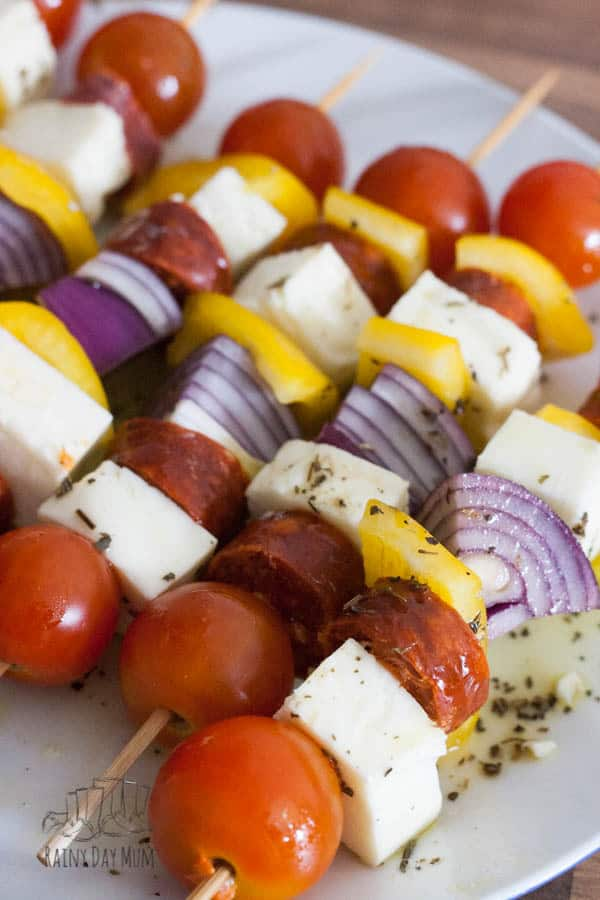 Try these delicious Mediterranean influenced Kebabs on your BBQ next time. With Halloumi cheese and Chorizo grilled with a simple lime dressing.