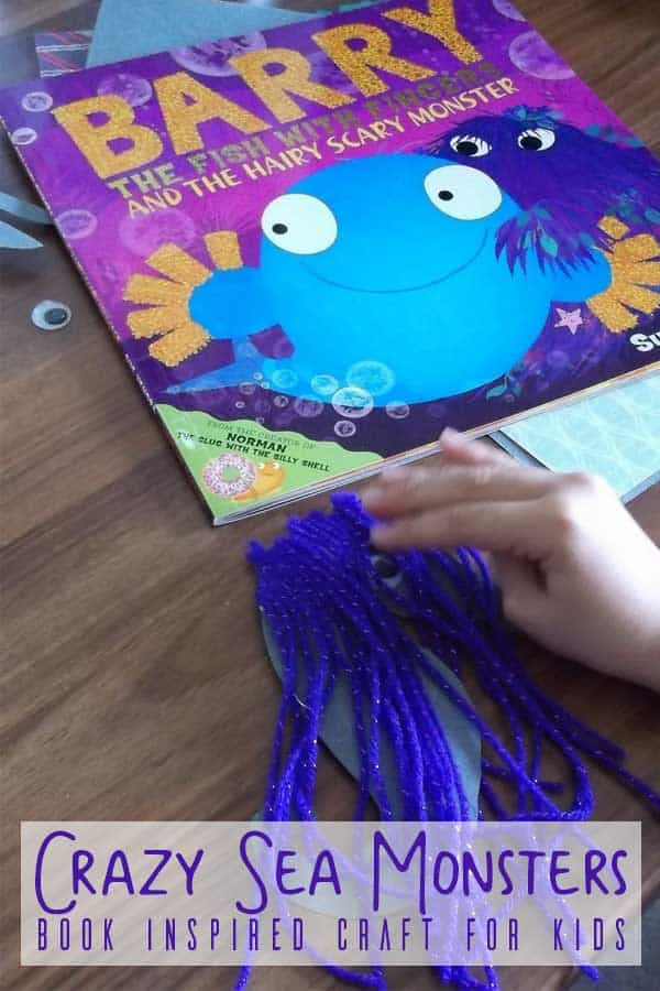 Read and create with Barry the Fish with Fingers and the Hairy Scary Monster by Sue Hendra and make some Crazy Sea Monsters.