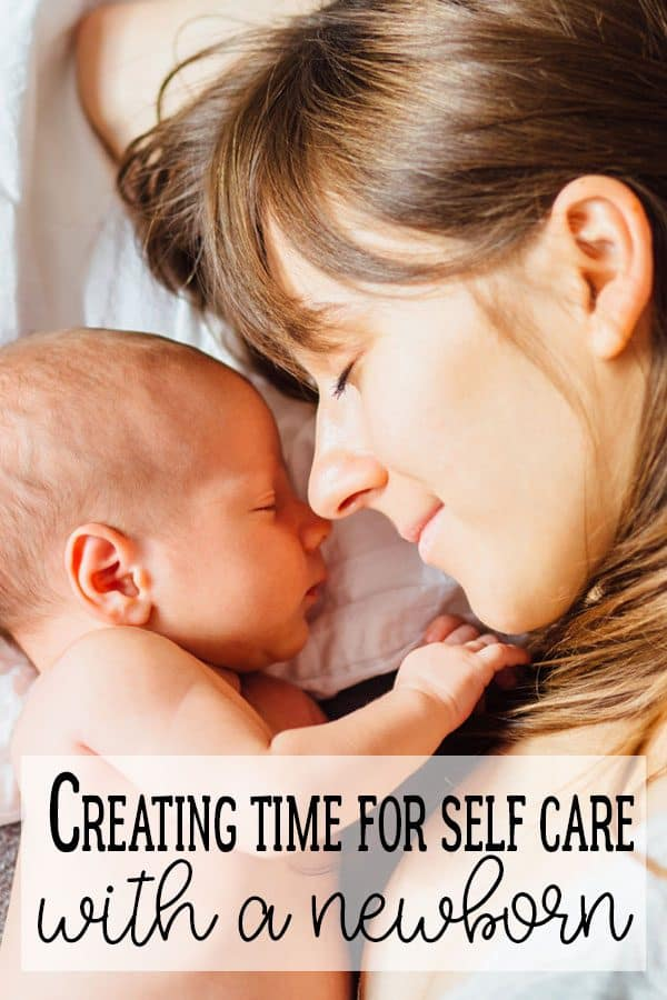 With a newborn one of the things that you need to make sure you do is care for yourself read our tips on how to create time for self-care with a newborn.