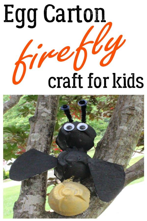 Egg Carton Firefly Craft