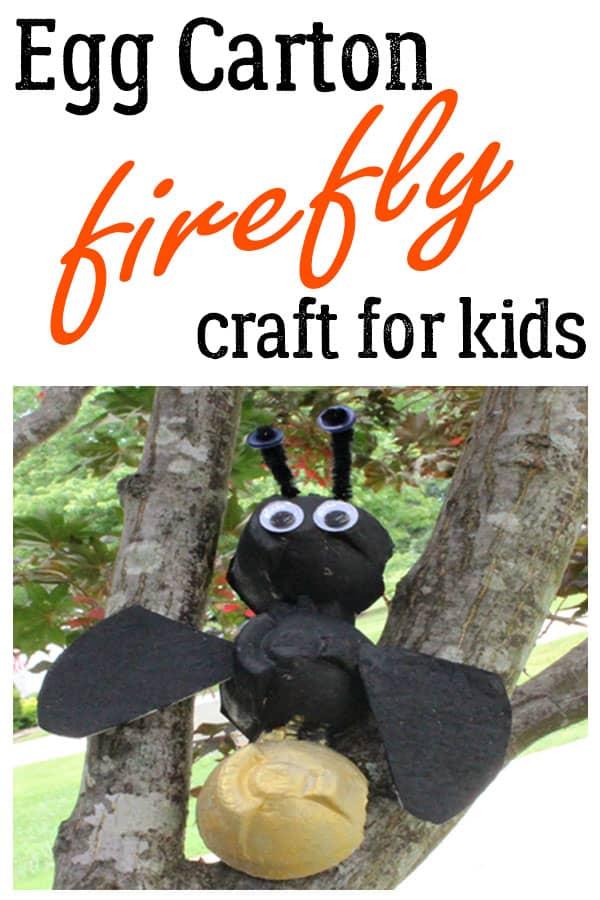 Egg Carton Firefly Craft