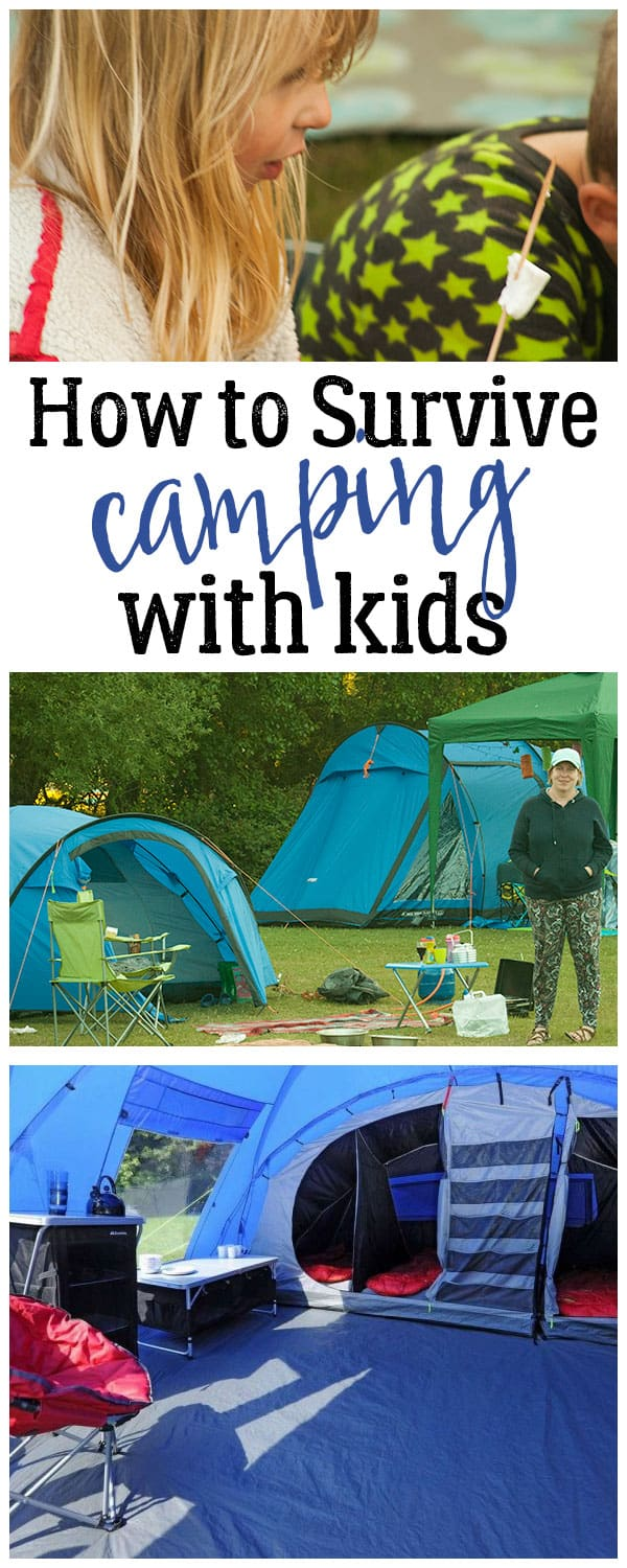 Top Tips from a camping convert family on how to survive your family camping trips and make them memorable quality family time.