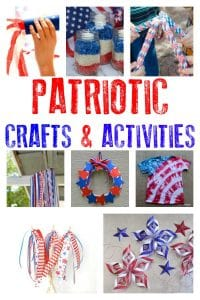 Over 20 different Patriotic crafts and activities for kids that are easy and fun to do. Ideal for 4th July or Memorial Day.