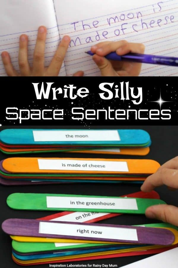 Write Silly Space Sentences