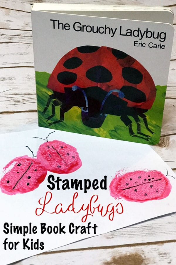 Sponge Stamped Ladybugs