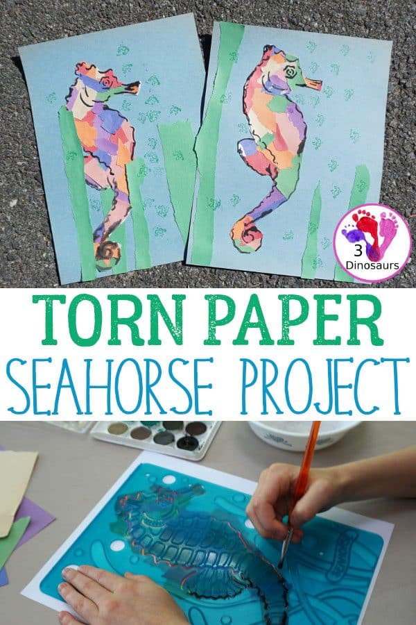 Torn Paper Sea Horse Project