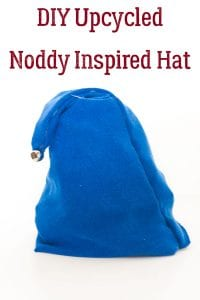 DIY Noddy Inspired Hat from a sweater