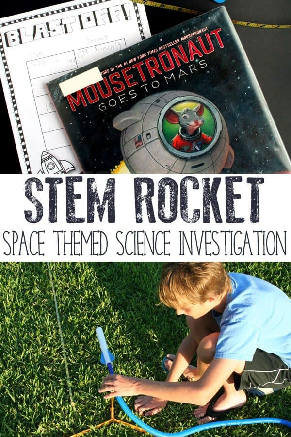 STEM rocket experiment pinnable image