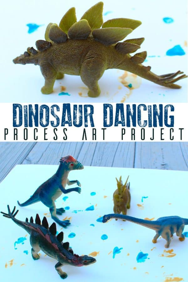 Dinosaur Dance Process Art Project