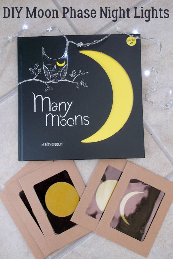 Create your own moon phase display with this simple tutorial on how to create a light up moon phase bunting for your room or home