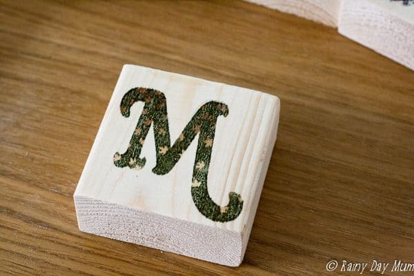 How to make your own printed wood blocks using your ink jet printer with step by step instructions on creating the letters and transferring to the wood.