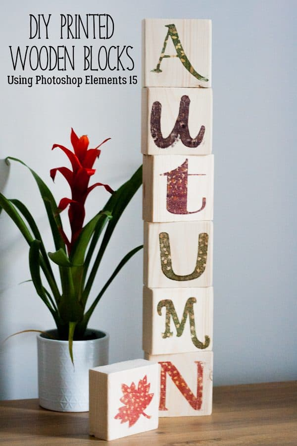 DIY Autumn Wood Block Home Decor