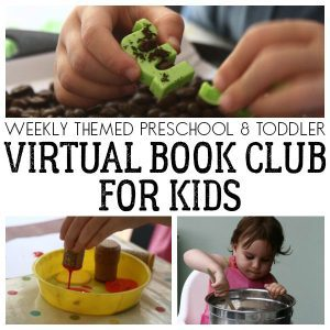 Hands-on weekly virtual book club for toddlers and preschoolers. Encouraging a love of books as you play, create and learn together.