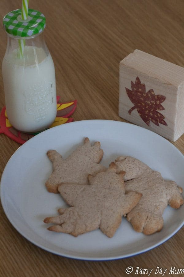 Easy recipe to cook with kids - perfect for autumn baking with lightly spiced flavour this cookie dough can be made ahead of time and baked when wanted.