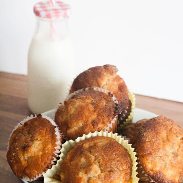 Easy recipe to make these delicious apple and cinnamon breakfast muffins, but there's nothing stopping you eating them anytime. Perfect for autumn baking
