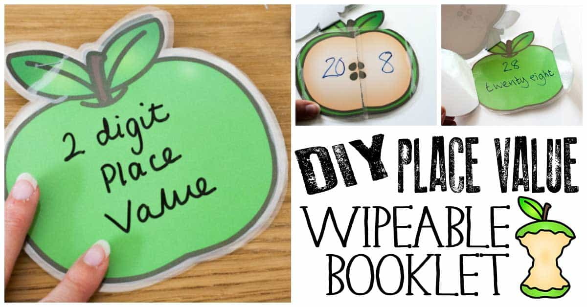 DIY Whiteboard Apple Place Value Booklet