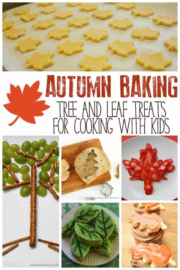 Delicious, easy recipes for autumn baking and cooking with kids. Leaf and Tree themed treats that fit the season and are fun to make together.