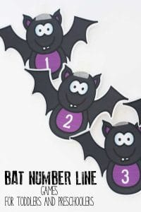 Bat Number Line Games for Toddlers and Preschoolers
