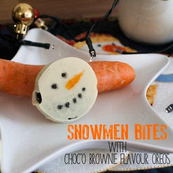 snowmen oreo cookies easy DIY for kids