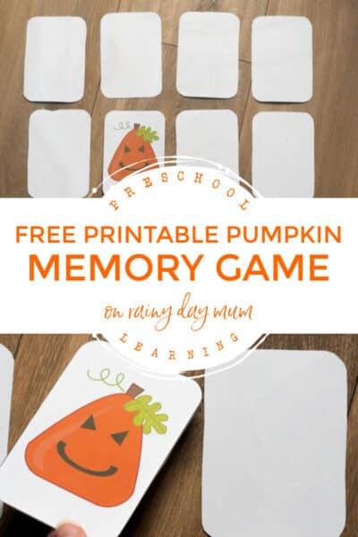 free printable pumpkin memory game