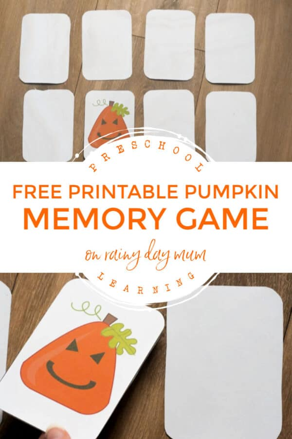 free printable pumpkin memory game