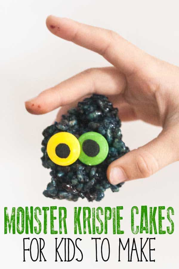 gruesome monster Krispie Cakes for the kids to bake