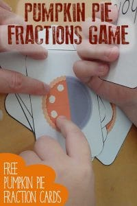 """Play this simple Pumpkin Pie Fractions Game to review basic fractions either by """"snap"""" or by a memory card game - working on half, whole and quarters."""
