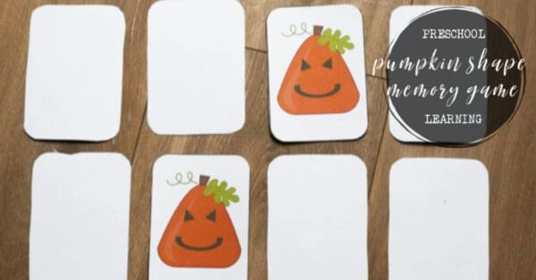 Pumpkin Shape Preschool Memory Game