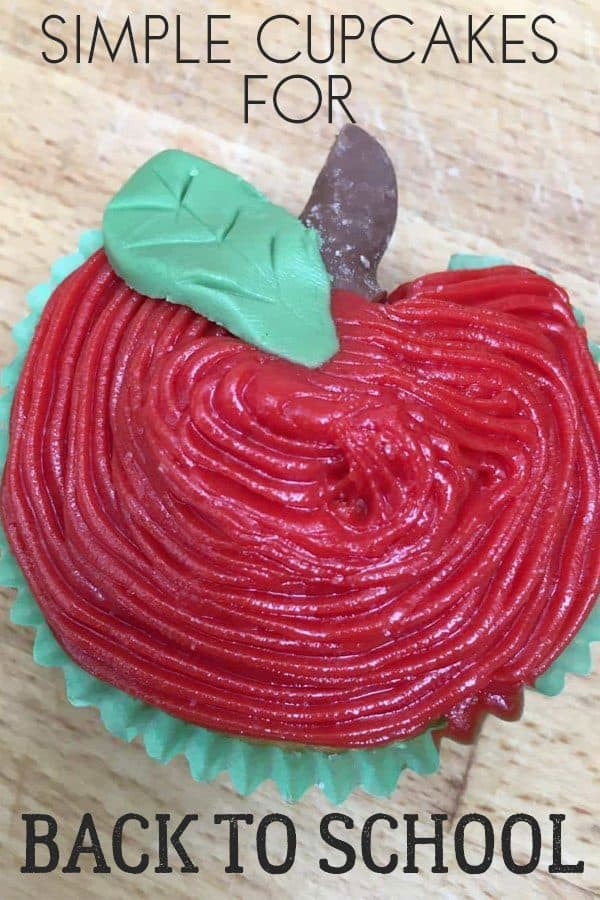 Simple Apple Decorated Cupcakes