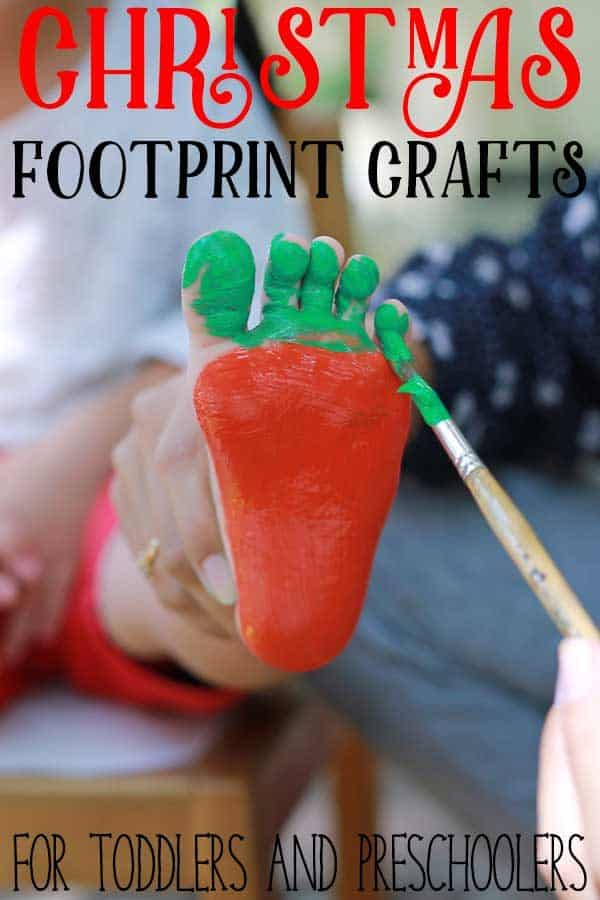 Christmas Footprint Crafts for Toddlers and Preschoolers