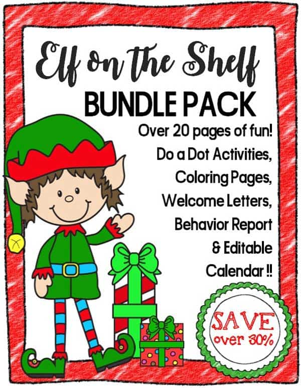 Fun and simple Elf on the Shelf Ideas for families including a printable pack for helping you get started with this tradition plus top tips on what to do!