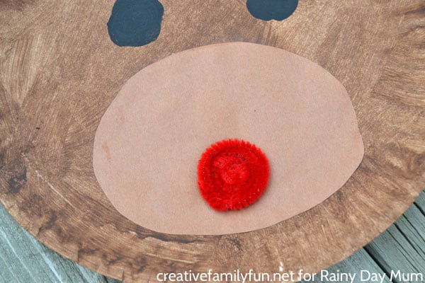 Paper Plate Rudolph - a fun Christmas Craft for Kids inspired by the story, song and movie Rudolph the Red-Nosed Reindeer.