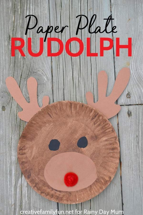 Cute Paper Plate Rudolph For Kids To Make