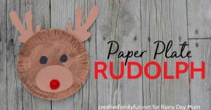 Paper Plate Rudolph - a fun Christmas Craft for Kids inspired by the story, song and movie Rudolph the Red Nosed Reindeer