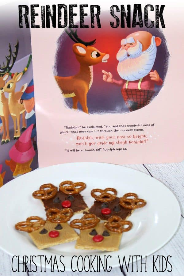 Easy No-Cook Rudolph Christmas Snack to Make with Kids