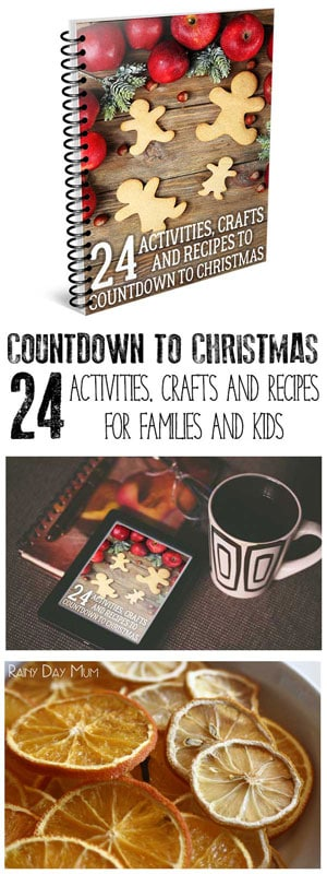 Countdown to Christmas with these 24 family friendly activities, crafts and recipes for the whole family to enjoy