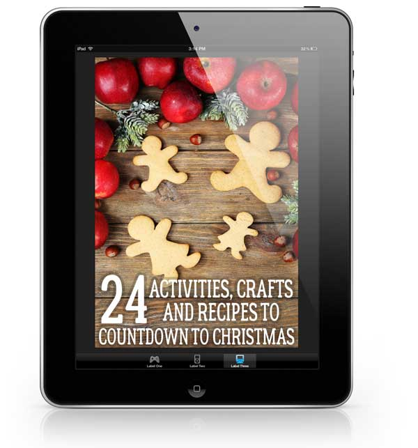 Countdown to Christmas Ebook - 24 Activities, Crafts and Recipes to create memories and connections as you countdown to Christmas Day with your Families