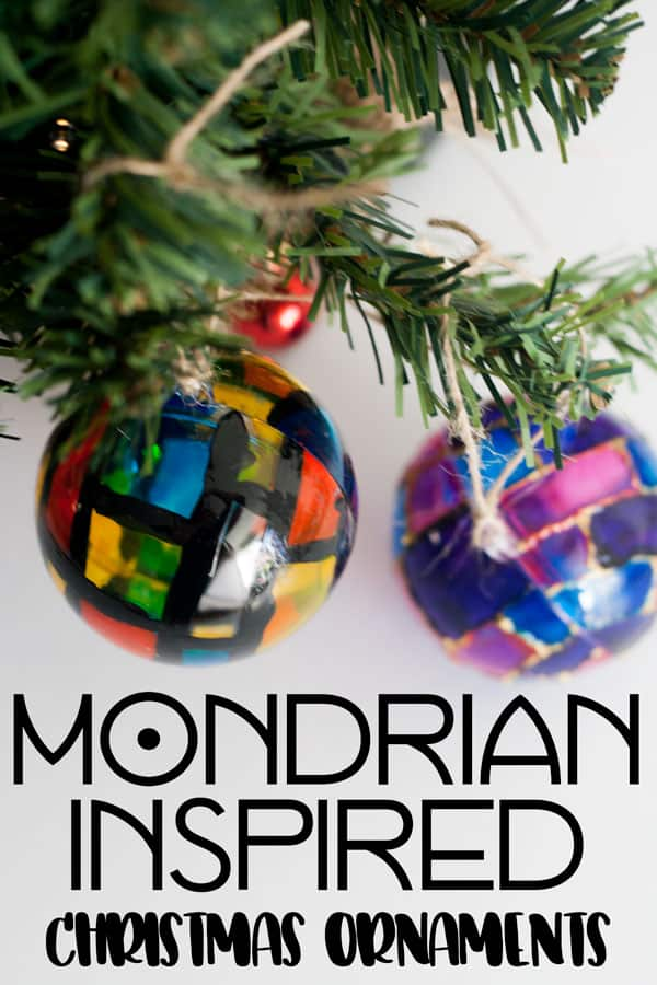 Mondrian Christmas Ornaments