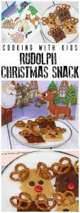 No-cook snacks inspired by the song and story of Rudolph the Red-Nosed Reindeer ideal to make with and for kids this Christmas.