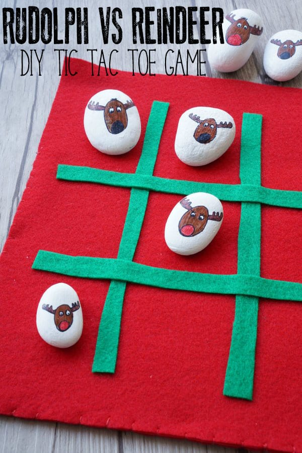 DIY Rudolph vs Reindeer Tic Tac Toe Game