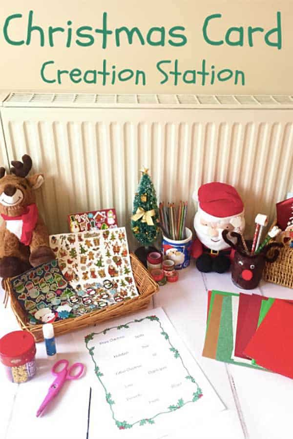 Christmas Card Creation Station For Kids Of Different Ages