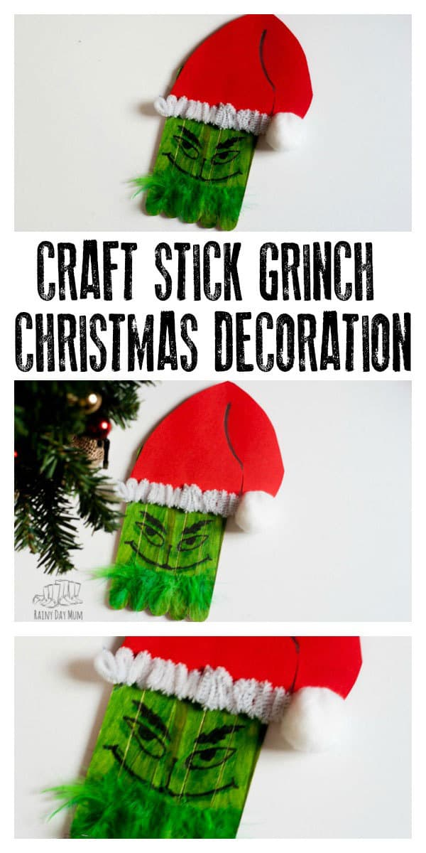 Lollipop Stick Christmas Decorations.How The Grinch Stole Christmas Diy Popsicle Decoration