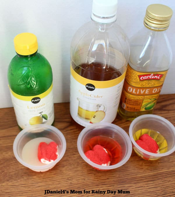Fun science experiment to make the Grinch's heart change ideal for simple investigation into chemical reactions based on How the Grinch Stole Christmas