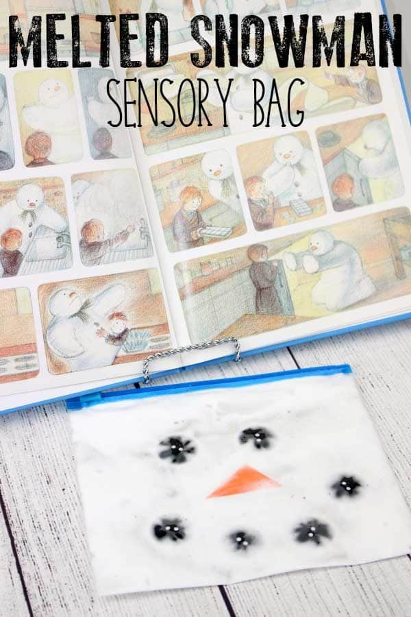 Melted Snowman Sensory Bag