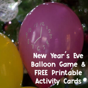 fun and simple new year's eve maths game for kids using balloons to count down to 2021