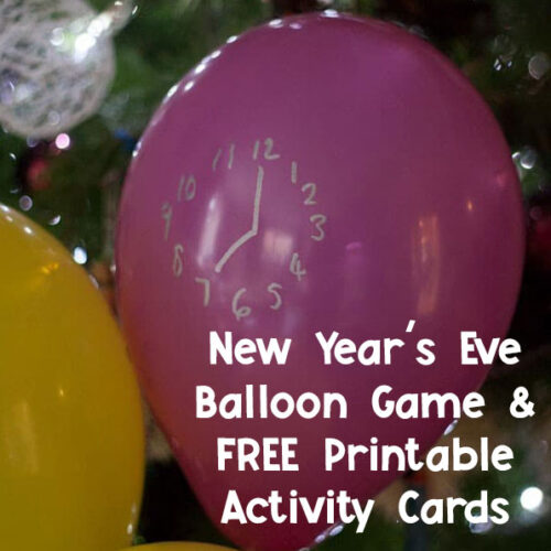 New Year's Eve Family Fun Party - Balloon Game and Food and Drink Ideas