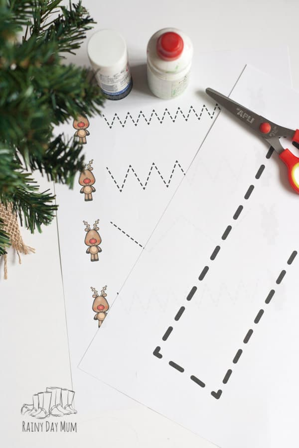 "Rudolph and Reindeer Toddler Activity Pack to print, play, create and learn with. Free resource for Christmas letter ""r"" learning and fun."