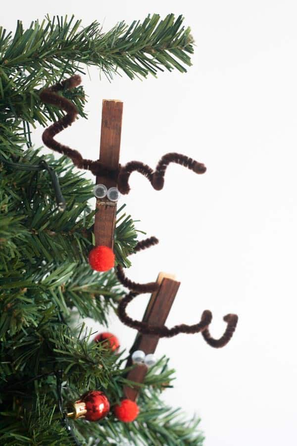 Rudolph Christmas Decorations.Easy Rudolph Or Reindeer Clothespin Craft For Kids To Make