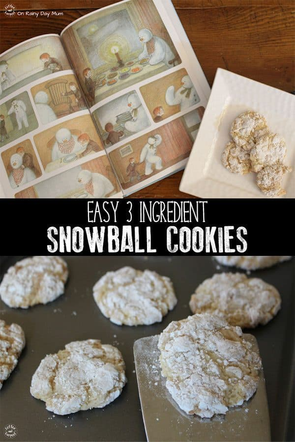 3 Ingredient Snowball Cookies to Cook with Your Kids